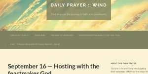 Daily Prayer :: WIND