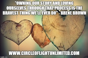 Image of wooden hearts with quote superimposed