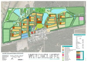 Early plans for Witchcliffe EcoVillage reproduced with permission of Mike Hulme