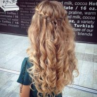 Tutorial: Waterfall braid half-updo  CircleTrest