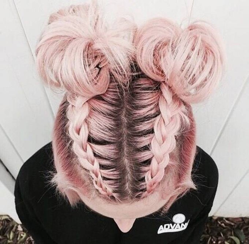 Trend Watch  Mohawk braid into top knot halfup