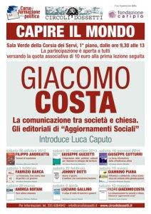 """Padre Giacomo Costa. La comunicazione tra società e Chiesa. Gli editoriali di """"Aggiornamenti Sociali"""""""