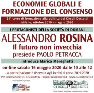 Alessandro Rosina, il futuro non invecchia. Locandina.
