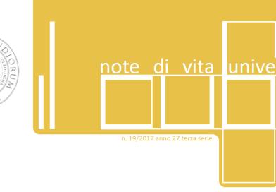 """""""IL Cubo – Note di vita universitaria"""" n. 19 2017"""