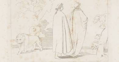 Entering the Dark Wood 1807 by John Flaxman 1755-1826