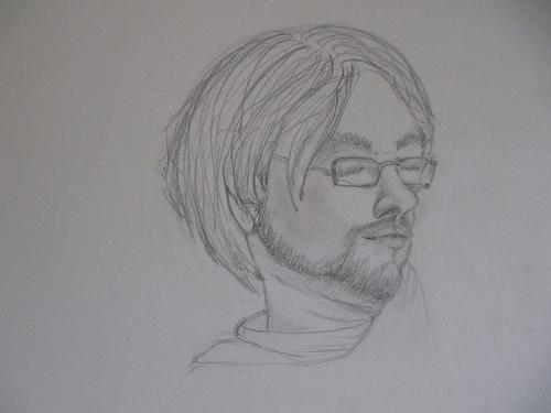 Clara: disegno di faccia alla prima lezione, maggio 2011