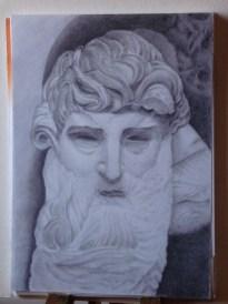 Marina: disegno di testa copia da statua marzo 2011