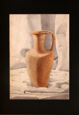 Agnese Coni - acquerello e penna biro nera su cartoncino da acquerello cm 35x50