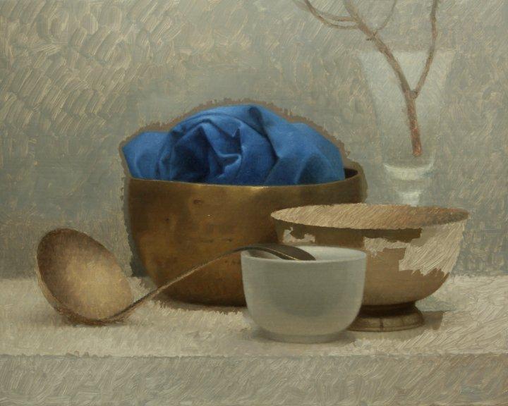 dipingere a olio tazza scura