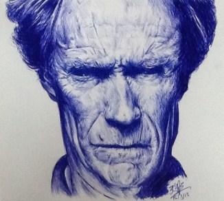 Clint Eastwood - penna a sfera blu