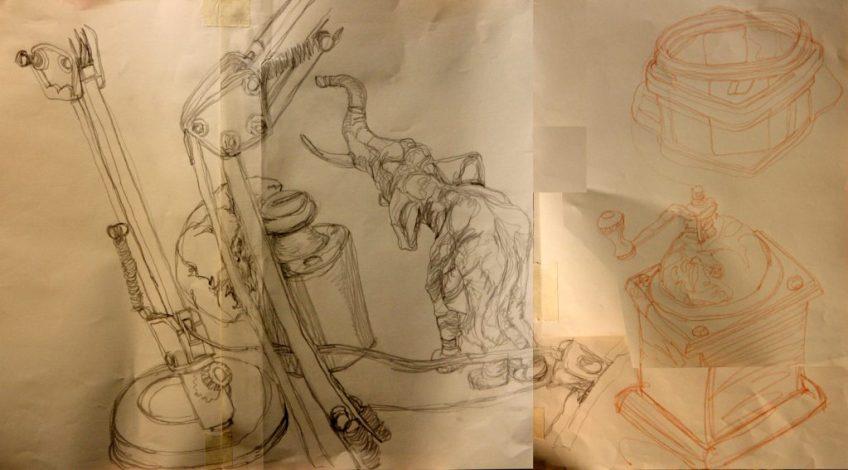 """Un disegno a linea continua realizzato durante un laboratorio su """"disegno, creatività e meditazione"""" organizzato da Circolo d'Arti"""