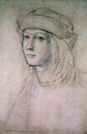 autoritratto giovanile di Raffaello Sanzio, c.ca 1495