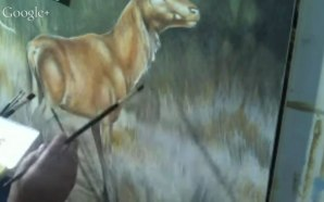Pittura in acrilico di un cervo – 1