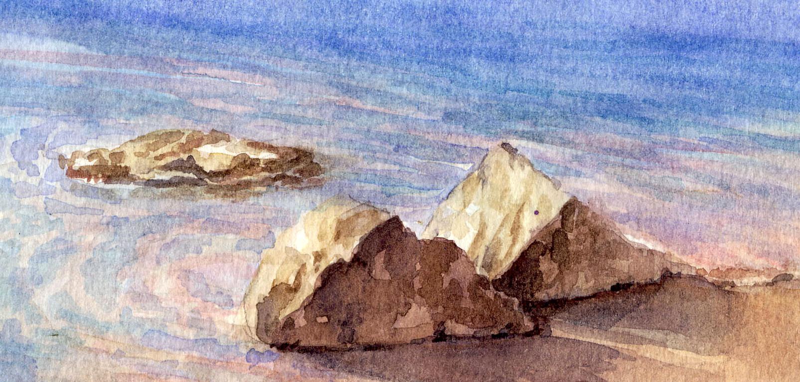 Come preparare il disegno di base in un paesaggio ad for Disegno paesaggio marino