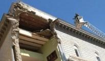 crollo palazzo a Chiaia