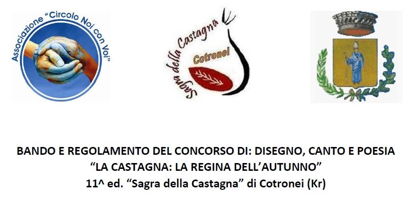 Sagra della Castagna. Bando concorso di disegno, canto e poesia.