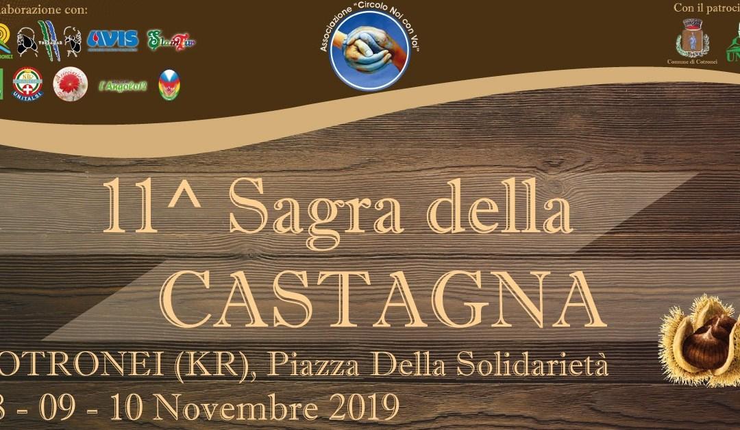 """Il programma completo dell' 11^ """"Sagra della Castagna"""" di Cotronei."""