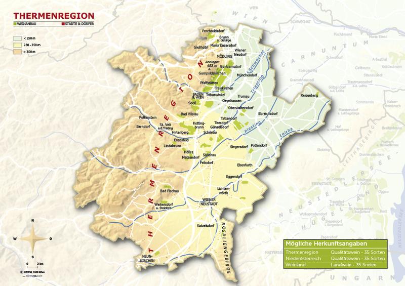 Map courtesy of the Austrian Wine Marketing Board