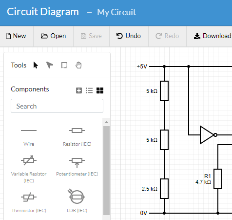 circuit diagram  a circuit diagram maker