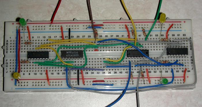 Flip Flop Transistor Circuit Together With Led Push Button Switch