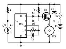 Sensor and control circuit diagrams