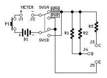 Tools and measuring circuit diagrams