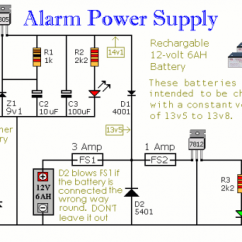 Diy Solar Panel System Wiring Diagram Simple Electronic Projects With Circuit How To Build An Alarm Power Supply Battery Back-up -