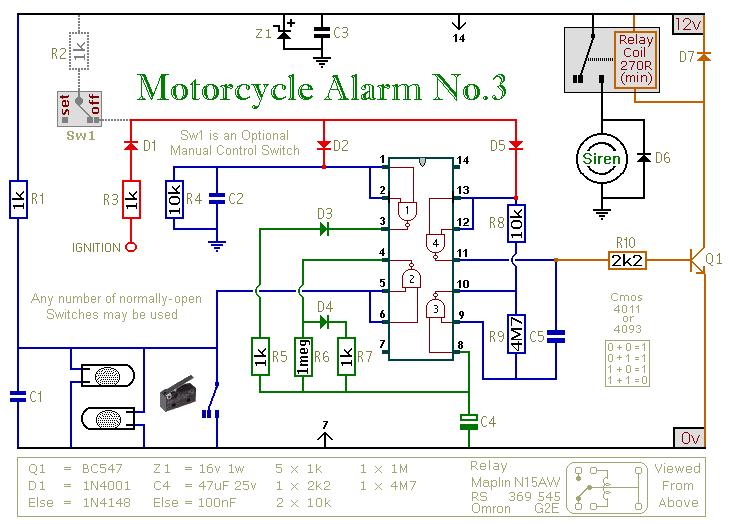 C5 Corvette Wiring Diagrams How To Build A Cmos Based Motorcycle Alarm Circuit Diagram