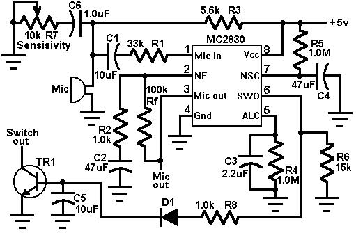 Soft Wiring: Voice Switch Circuit Diagram