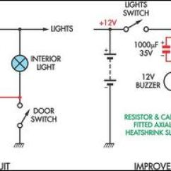 Wiring Diagram Lights In Parallel Sky Satellite Dish How To Build Simple Headlight Reminders - Circuit