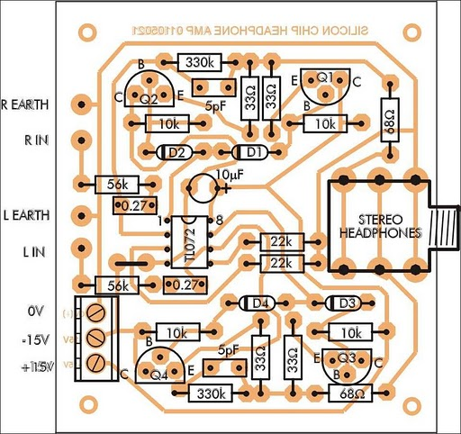 audio amplifier circuit diagram with layout 2006 nissan xterra parts how to build stereo headphone schematic