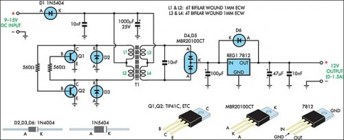 1000w Amplifier Circuit Using Transistor How To Build 12v Regulated Inverter Supply Circuit Diagram