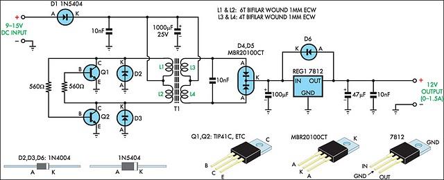 100w 12v Rv Solar Wiring Diagram How To Build 12v Regulated Inverter Supply Circuit Diagram