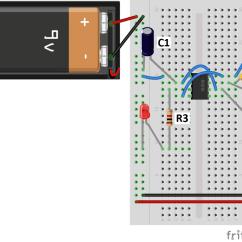 Digital Clock Circuit Using 555 Timer Diagram Seymour Duncan 59 Wiring Basics Astable Mode