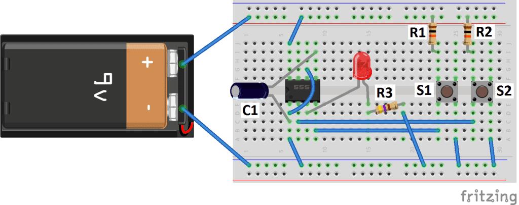 Basic Electrical Wiring Diagrams Lights Series 555 Timer Basics Bistable Mode