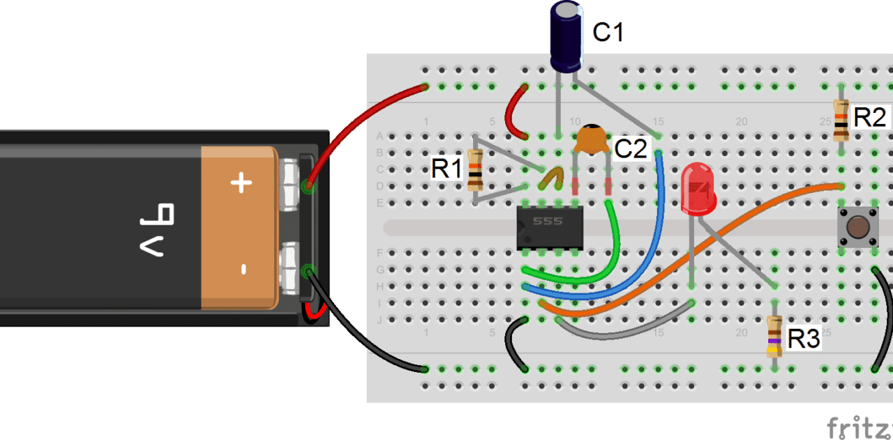hight resolution of 555 timer basics monostable mode