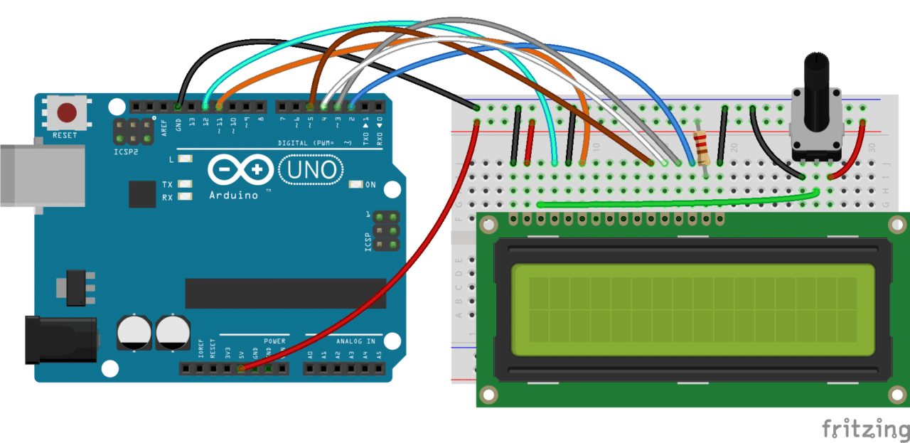 hight resolution of also you might need to solder a 16 pin header to your lcd before connecting it to a breadboard follow the diagram below to wire the lcd to your arduino