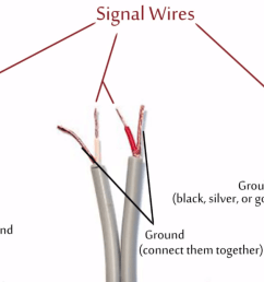 check the image below to see which wires are audio signal wires and which are ground wires in the most common trs wiring schemes image courtesy of diy  [ 1280 x 673 Pixel ]