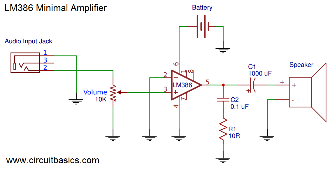 mono headphone wiring diagram how to draw a stem and leaf build great sounding audio amplifier (with bass boost) from the lm386