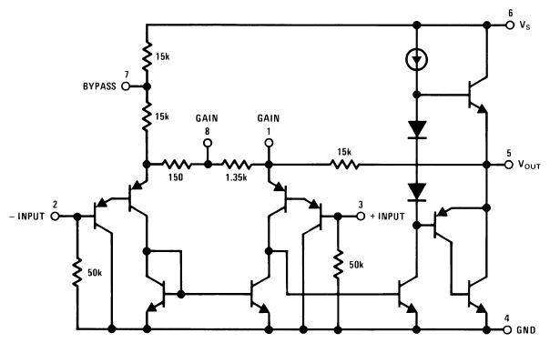 great sounding audio amplifier with bass boost from the lm386