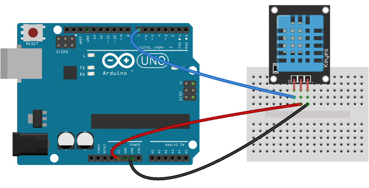 How to set up the dht humidity sensor on an arduino