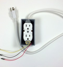 build an arduino controlled power outlet without electrical box cover plate [ 1024 x 768 Pixel ]