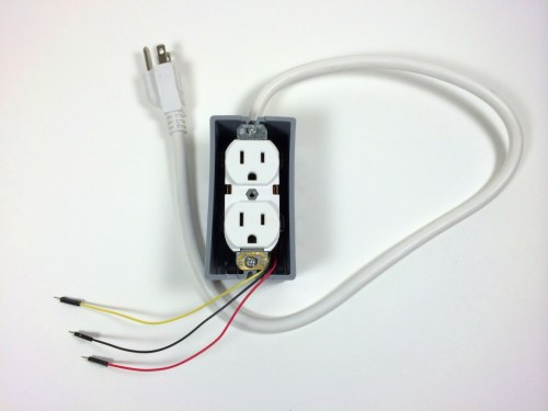 small resolution of build an arduino controlled power outlet without electrical box cover plate