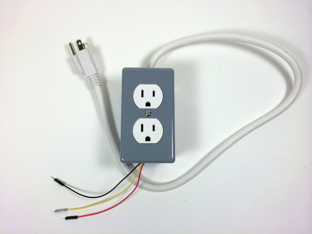 hight resolution of build an arduino controlled power outlet the completed electrical outlet box top view