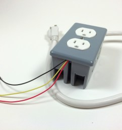 build an arduino controlled power outlet the completed electrical outlet box data 5v and [ 1024 x 768 Pixel ]