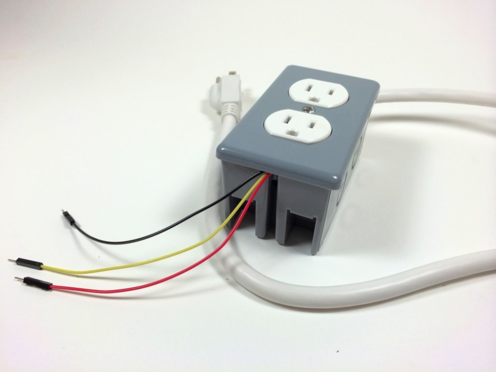 medium resolution of build an arduino controlled power outlet the completed electrical outlet box data 5v and
