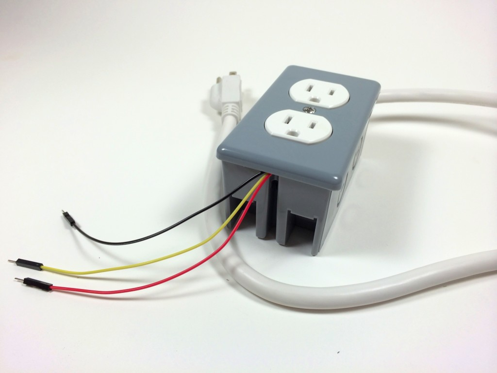 hight resolution of build an arduino controlled power outlet the completed electrical outlet box data 5v and