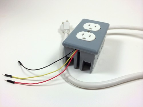 small resolution of build an arduino controlled power outlet the completed electrical outlet box data 5v and