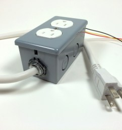 build an arduino controlled power outlet the completed electrical outlet box [ 1024 x 768 Pixel ]