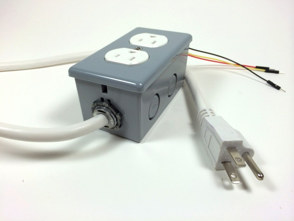 medium resolution of build an arduino controlled power outlet the completed electrical outlet box